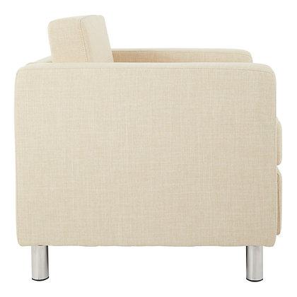 Pacific Arm Chair with Chrome Leg Finish | Cream