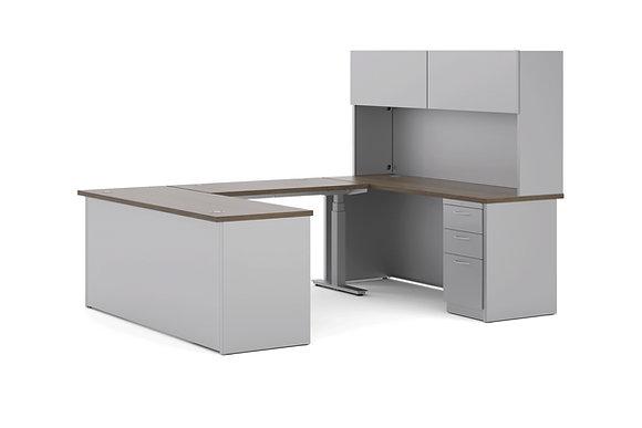 Adjustable Height U Shaped Desk