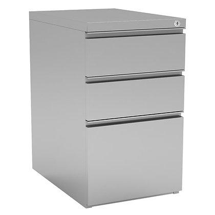 "3 Drawer Metal File and Dual Box Pedestal - 15""W x 22""D"