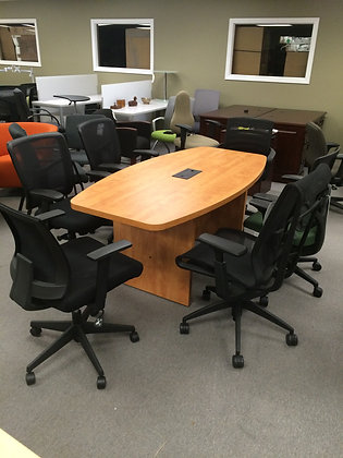 Boat Shaped Conference Table - 6'