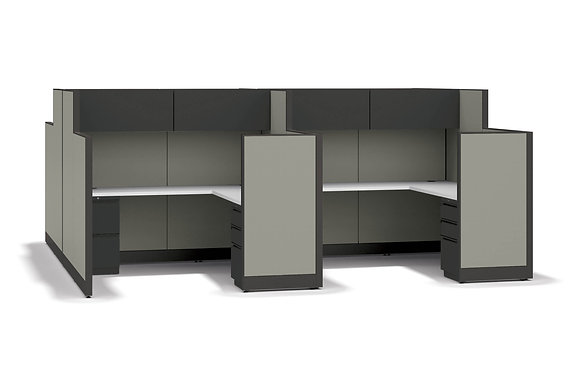 4-Person Cubicle System - Accelerate