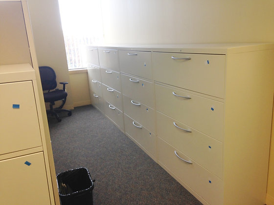 #281, Pre-Owned Allsteel 42-Inch Wide 4 Drawer Lateral Files