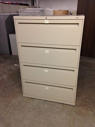 """#83, Pre-Owned 36"""" Hon 5 Drawer Lateral Files"""