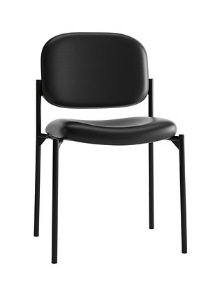 Leather Stacking Side Chair