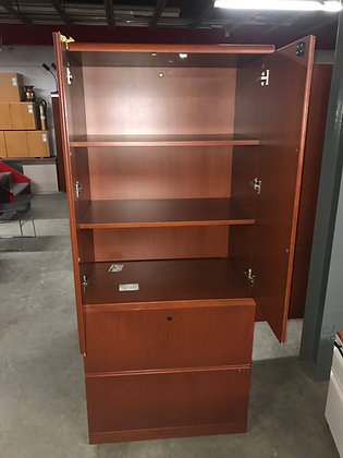 #375, Pre-Owned SMED Lateral File with Hutch
