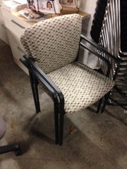 #296, Pre-Owned Steelcase Stacking Side Chairs