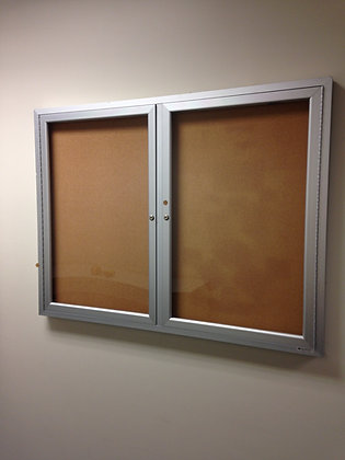 "#237, Pre-Owned 48"" x 36"" Enclosed Bulletin Boards"