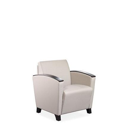 Lounge Chair w/ Wood Arm Caps