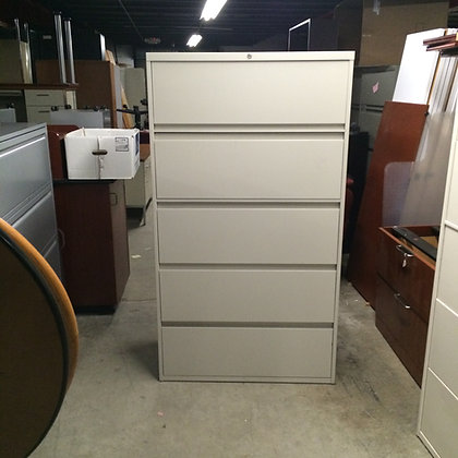 #24, Pre-Owned Steelcase 5 Drawer Lateral Files