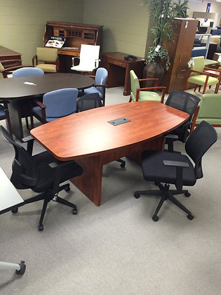 Boat Shaped Conference Table - 8'