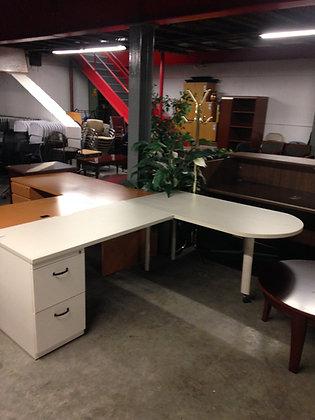 #9, Pre-Owned Peninsula Top Desks