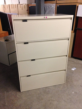 "#78, Pre-Owned 36""W Steelcase 4 Drawer Lateral Files"