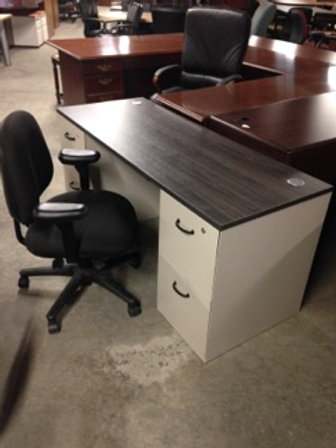 Double Pedestal Desks Used Allsteel