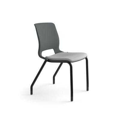 4-Leg Stacking Chairs w/ + Seat Cushion + Glides - 2/carton