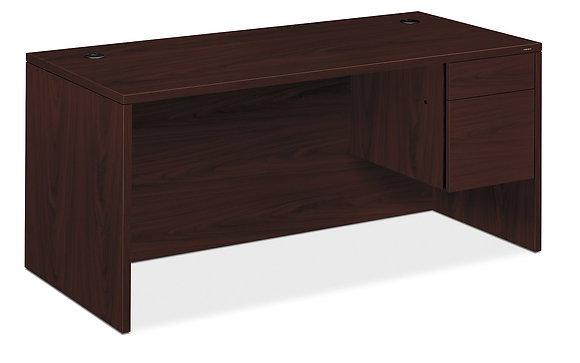 "Right-Handed Laminate Desk | 66.0"" W"