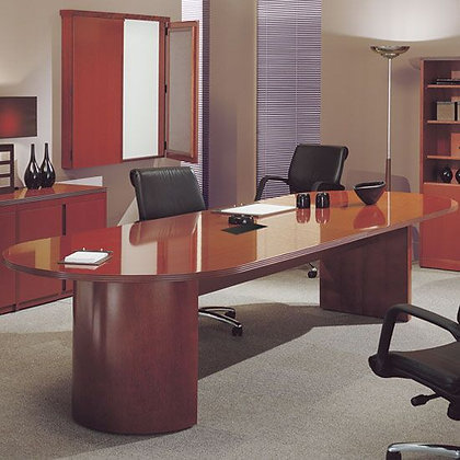 """Racetrack Conference Table with """"D"""" Base - 6'"""