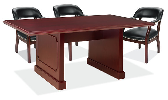 Traditional Rectangular Conference Table w/ Panel Base - 8'