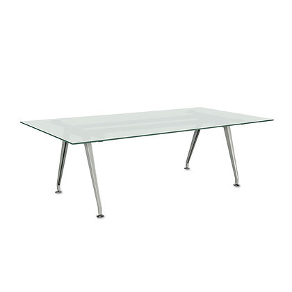 Frosted Glass Conference Table - 8'