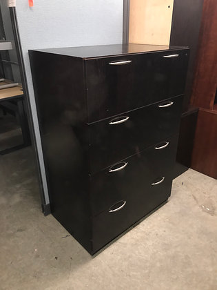 "#441, Pre-Owned Kimball Wooden 4 Drawer Lateral File | 36""W"