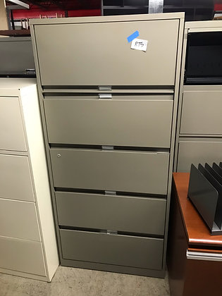 """#410, Pre-Owned Steelcase 5 Drawer 30"""" W Lateral"""