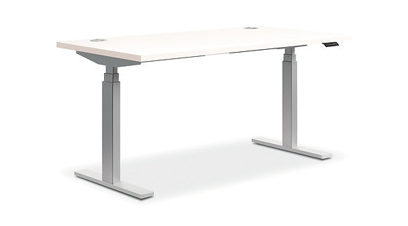 """Height Adjustable Table w/ 3 Stage Base - 30"""" x 60"""" Top"""