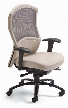 Posh Mesh Medium High Back Leather Chair