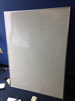 """#241, Pre-Owned 48"""" x 36"""" Dry Erase Magnetic Whiteboard"""