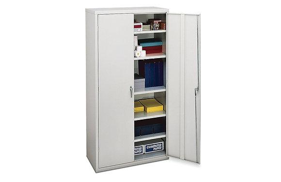 "Storage Cabinet, 5 Shelves, 18.25""D, Light Gray"