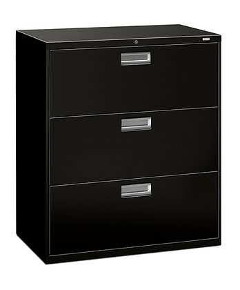 """3 Drawer Lateral File, 36""""W, Black"""