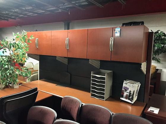 """#358, Pre-Owned Knoll Reff 96"""" Overhead Storage Units"""