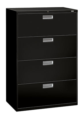 """4 Drawer Lateral File, 36""""W, Black"""