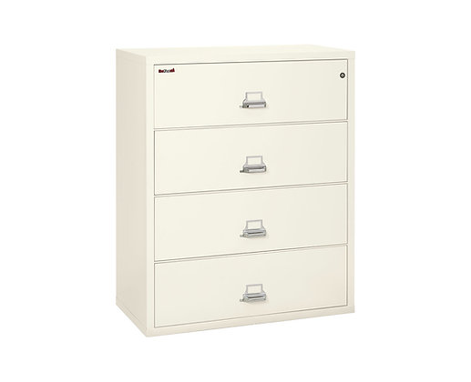 "FireKing Fireproof Lateral File Cabinet | 4 Drawer | 44"" W"