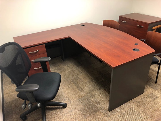 #414, Pre-Owned L-Shaped Desks