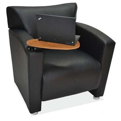 Leather Tribeca Club Chair w/ Tablet Arm