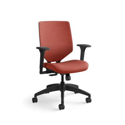 Hon, Solve Mid-Back Task Chair w/ Upholstered Back, Bittersweet