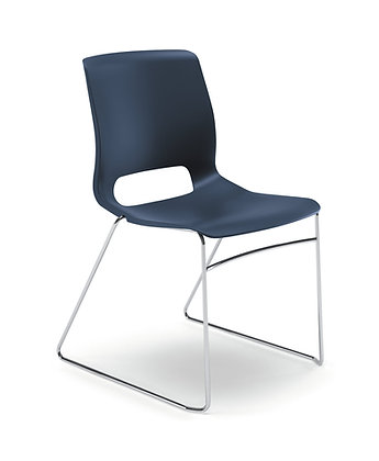 Armless Motivate High Density Stacking Chairs - 4/carton