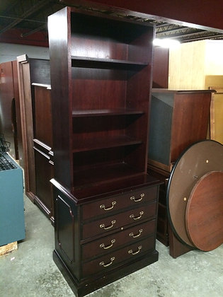 #111, Pre-Owned Paoli 2 Drawer Lateral with Bookcase