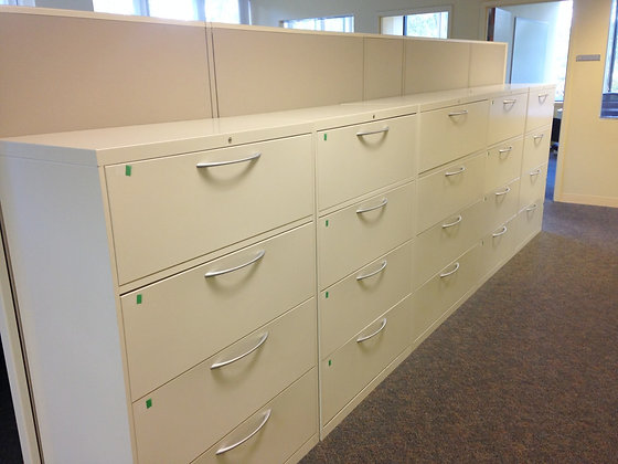 #280, Pre-Owned Allsteel 36-Inch Wide 4 Drawer Lateral Files