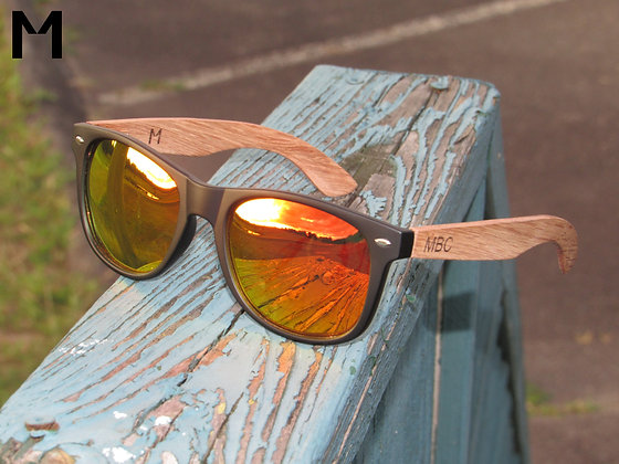 ZEBRA WOOD POLARIZED CRIMSON