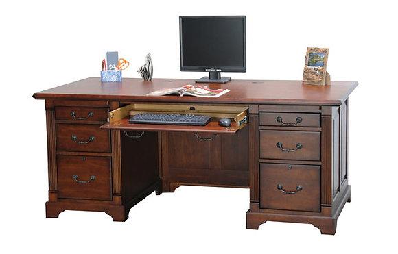 "72""W Double Pedestal Executive Desk"