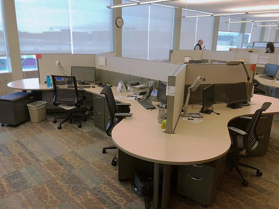 #285, Pre-Owned Steelcase Avenir 6 Person Cubicle Workstations