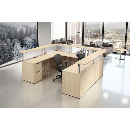 "U-Shaped Reception Desk | 108"" x 90"""