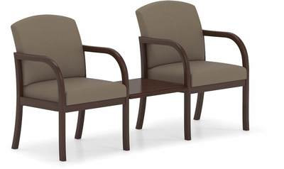 2 Chairs w/ Connecting Center Table