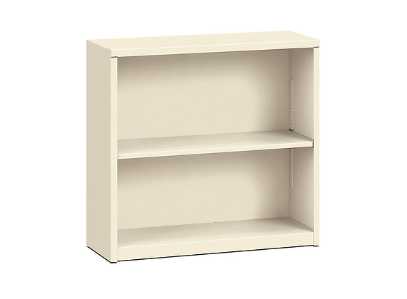 Steel Bookcase, 2 Shelves, Putty