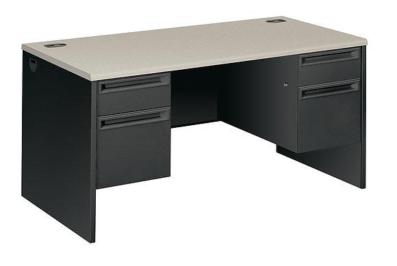"""60""""W x 30""""D Double Pedestal Desk"""