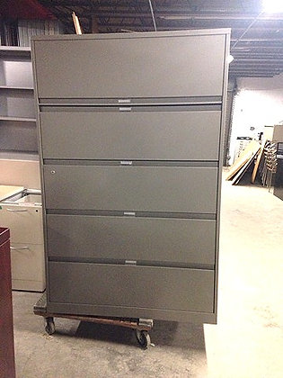 """#319, Pre-Owned Steelcase 5 Drawer 42"""" W Lateral"""
