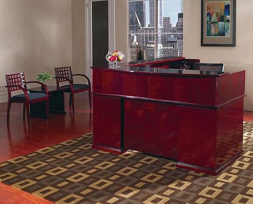 Reception Desk, Mahogany | Wood Veneer