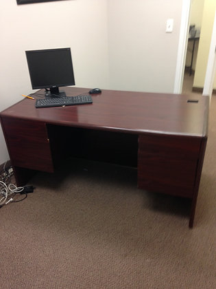 #201, Pre-Owned Double Pedestal Desks