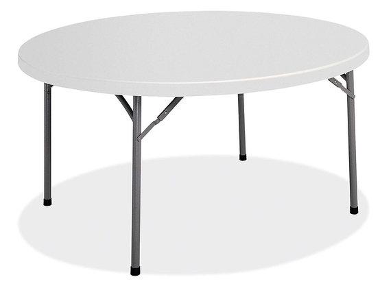 "Round Plastic Folding Tables - 60"" Diameter"