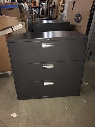 """#424, Pre-Owned HON 600 Series 3 Drawer Lateral File 
